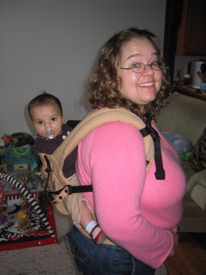 Karen, Zoe and the Ergo carrier