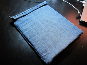 My new denim iPad sleeve